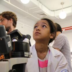 Science Sisters put Scientist Monica Mugnier Under the WGRL Microscope!